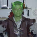 Jeff in his Shrek outfit