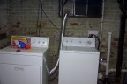 Washer and dryer can now side side by side  with the drain system reworked to allow more room.  Dryer will be moved completely i